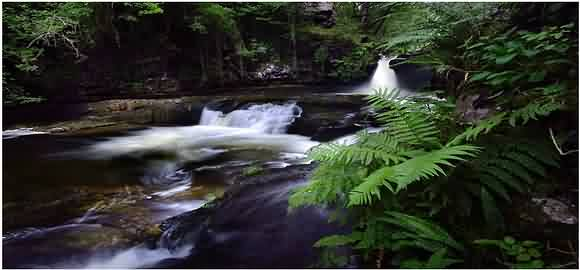 there are many walks that take in the picturesque waterfalls common in the Ystradfellte area